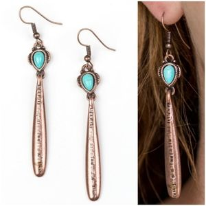 COLORFULLY CANYONLAND COPPER EARRINGS